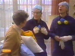 Nell Mangel, Henry Ramsay, Joe Mangel in Neighbours Episode 0814