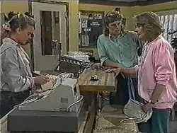 Bronwyn Davies, Henry Ramsay, Madge Bishop in Neighbours Episode 1005
