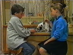 Toby Mangel, Cujo, Katie Landers in Neighbours Episode 1006