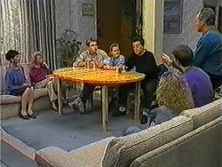 Hilary Robinson, Helen Daniels, Nick Page, Katie Landers, Matt Robinson, Sharon Davies, Todd Landers, Jim Robinson in Neighbours Episode 1008