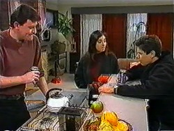 Des Clarke, Kerry Bishop, Joe Mangel in Neighbours Episode 1011