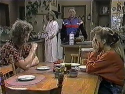 Henry Ramsay, Madge Bishop, Harold Bishop, Bronwyn Davies in Neighbours Episode 1012