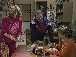 Madge Bishop, Harold Bishop, Bronwyn Davies in Neighbours Episode 1012