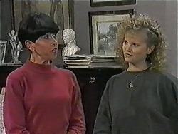 Hilary Robinson, Sharon Davies in Neighbours Episode 1013