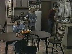 Hilary Robinson, Sharon Davies, Matt Robinson in Neighbours Episode 1014