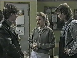 Mike Young, Bronwyn Davies, Henry Ramsay in Neighbours Episode 1015