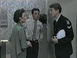 Gail Robinson, Paul Robinson, Policeman in Neighbours Episode 1015