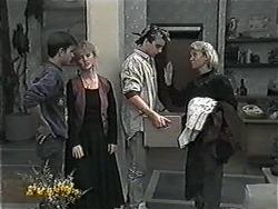 Todd Landers, Sharon Davies, Nick Page, Helen Daniels in Neighbours Episode 1017