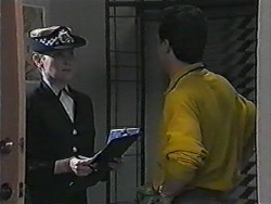 Policewoman, Paul Robinson in Neighbours Episode 1018
