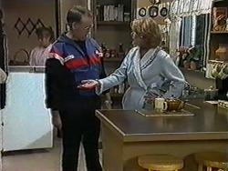 Bronwyn Davies, Harold Bishop, Madge Bishop in Neighbours Episode 1020