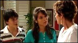 Zeke Kinski, Rachel Kinski, Susan Kennedy in Neighbours Episode 4928