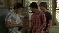 Declan Napier, Zeke Kinski, Ringo Brown in Neighbours Episode 5523