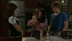 Rebecca Napier, Chloe Cammeniti, Carmella Cammeniti, Ringo Brown in Neighbours Episode 5530