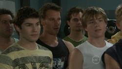 Declan Napier, Lucas Fitzgerald, Ringo Brown in Neighbours Episode 5535