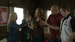 Nicola West, Callum Jones, Miranda Parker, Steve Parker, Toadie Rebecchi in Neighbours Episode 5541