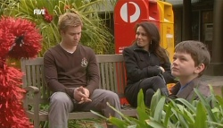 Ringo Brown, Libby Kennedy, Ben Kirk in Neighbours Episode 5833