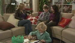 Steph Scully, Charlie Hoyland, Ben Kirk, Libby Kennedy in Neighbours Episode 5834