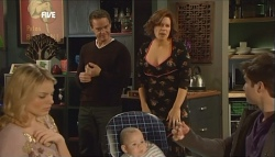 Donna Freedman, Paul Robinson, India Napier, Rebecca Napier, Declan Napier in Neighbours Episode 5835
