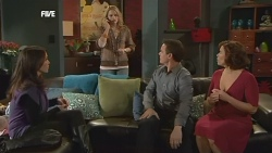 Libby Kennedy, Donna Freedman, Paul Robinson, Rebecca Napier in Neighbours Episode 5836