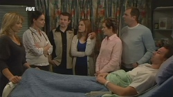 Steph Scully, Dr. Peggy Newton, Toadie Rebecchi, Sonya Mitchell, Susan Kennedy, Karl Kennedy, Lucas Fitzgerald in Neighbours Episode 5837