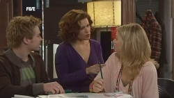 Ringo Brown, Rebecca Napier, Donna Freedman in Neighbours Episode 5838