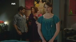 Declan Napier, Rebecca Napier, India Napier, Kate Ramsay in Neighbours Episode 5838
