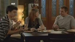 Zeke Kinski, Mia Zannis, Karl Kennedy in Neighbours Episode 5844