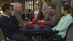 Paul Robinson, Lou Carpenter, Toadie Rebecchi, Karl Kennedy, Susan Kennedy in Neighbours Episode 5845