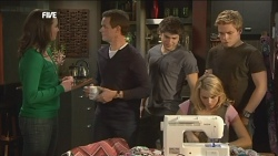 Kate Ramsay, Paul Robinson, Declan Napier, Donna Freedman, Ringo Brown in Neighbours Episode 5845