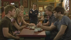 Ringo Brown, Donna Freedman, Paul Robinson, Andrew Robinson, Declan Napier in Neighbours Episode 5845