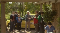 Toadie Rebecchi, Paul Robinson, Callum Jones, Sophie Ramsay, Harry Ramsay, Kate Ramsay in Neighbours Episode 5845
