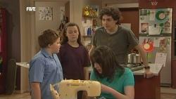 Callum Jones, Sophie Ramsay, Kate Ramsay, Harry Ramsay in Neighbours Episode 5848