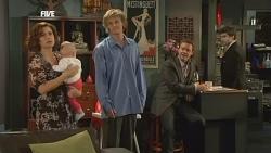 Rebecca Napier, India Napier, Andrew Robinson, Paul Robinson, Declan Napier in Neighbours Episode 5849