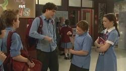 Dean Harman, Harry Ramsay, Callum Jones, Sophie Ramsay in Neighbours Episode 5849