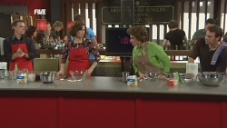 Paul Robinson, Rebecca Napier, Lyn Scully, Lucas Fitzgerald in Neighbours Episode 5852