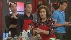 Lucas Fitzgerald, Paul Robinson, Rebecca Napier in Neighbours Episode 5852