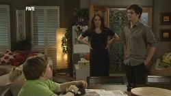 Audrey, Callum Jones, Libby Kennedy, Zeke Kinski in Neighbours Episode 5858