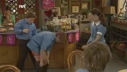 Callum Jones, Dean Harman, Sophie Ramsay in Neighbours Episode 5858