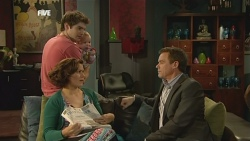 Declan Napier, India Napier, Rebecca Napier, Paul Robinson in Neighbours Episode 5859