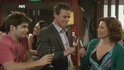 Declan Napier, Paul Robinson, Rebecca Napier in Neighbours Episode 5859