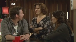 Lucas Fitzgerald, Rebecca Napier, Libby Kennedy in Neighbours Episode 5862
