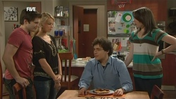 Declan Napier, Donna Freedman, Harry Ramsay, Kate Ramsay in Neighbours Episode 5864