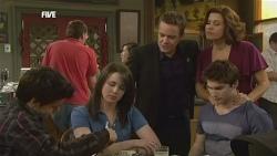 Zeke Kinski, Kate Ramsay, Paul Robinson, Rebecca Napier, Declan Napier in Neighbours Episode 5865