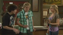 Harry Ramsay, Andrew Robinson, Donna Freedman in Neighbours Episode 5865