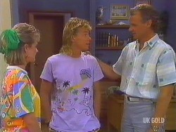 Daphne Clarke, Scott Robinson, Jim Robinson in Neighbours Episode 0435