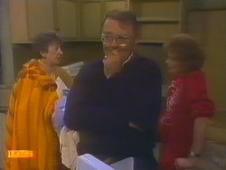 Nell Mangel, Harold Bishop, Madge Bishop in Neighbours Episode 0815
