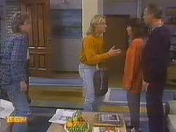 Nick Page, Scott Robinson, Beverly Robinson, Jim Robinson in Neighbours Episode 0815
