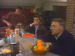 Des Clarke, Paul Robinson, Harold Bishop in Neighbours Episode 0815