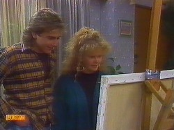 Nick Page, Sharon Davies in Neighbours Episode 0817