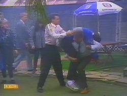 Paul Robinson, Des Clarke, Harold Bishop in Neighbours Episode 0818